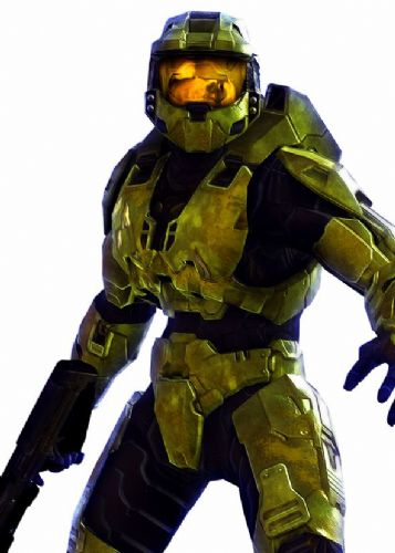 GAMES - HALO - MASTER CHIEF WHITE canvas print - self adhesive poster - photo print